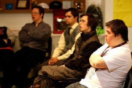 Reunión de jóvenes con síndrome de Down