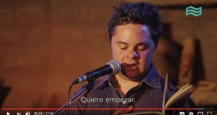 Andrés Bruzzone, poeta con síndrome de Down