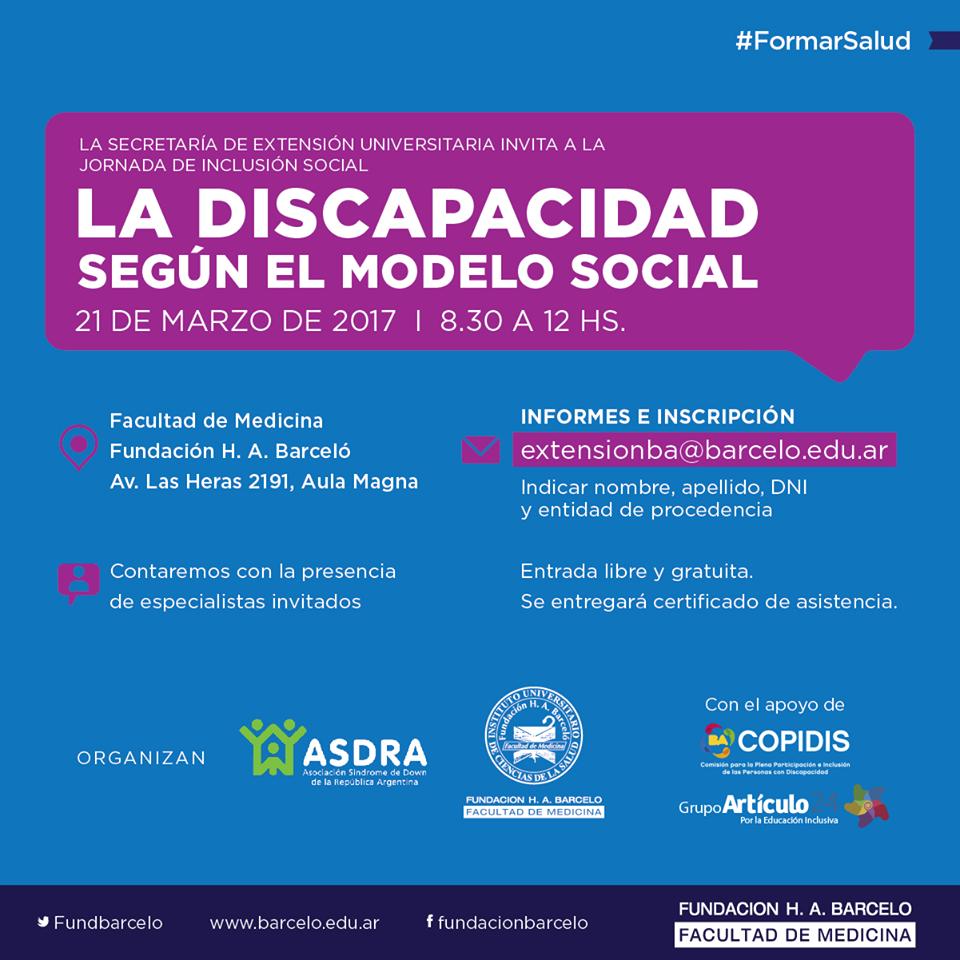 Jornada La discapacidad según el modelo social