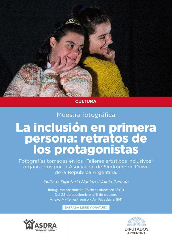 Muestra La inclusión en primera persona