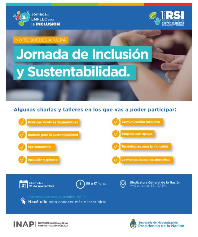 Jornada de inclusión y sustentabilidad