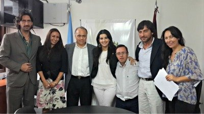 ASDRA junto a Juan Pablo Reyes y miembros de la administración de la provincia de Salta