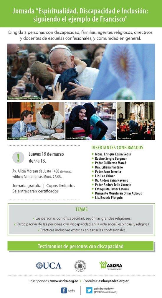 Jornada gratuita por la inclusión de las personas con discapacidad en instituciones confesionales