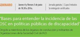 Seminario sobre políticas públicas y discapacidad