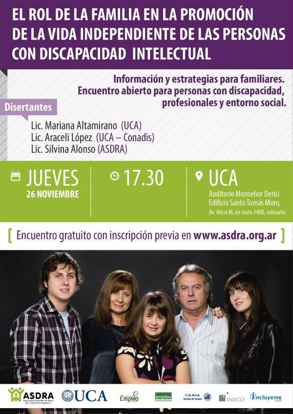Jornada sobre vida independiente de las personas con discapacidad intelectual