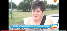 Gastón, el primer guardavidas con sindrome de Down