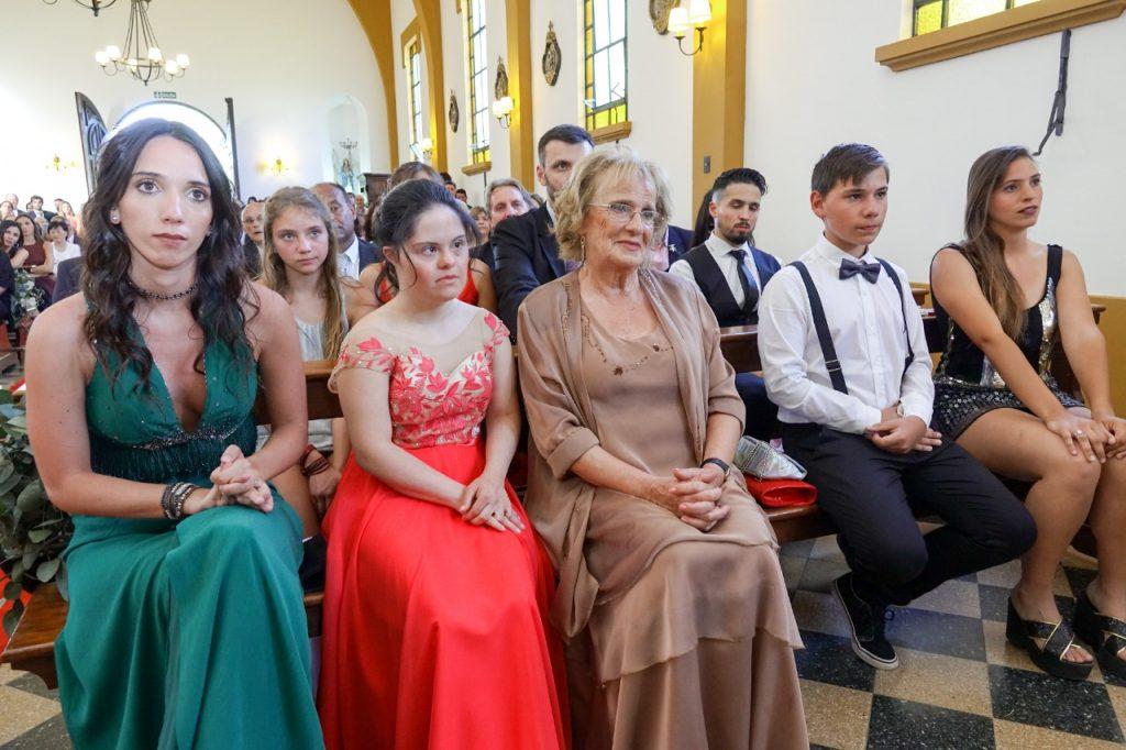 Carla, testigo de casamiento