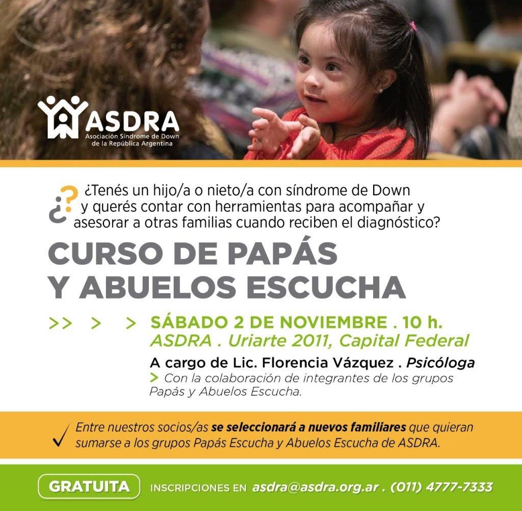Curso de Papás y Abuelos Escucha de ASDRA