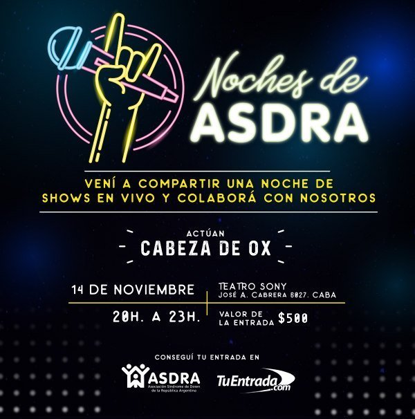 Recital a beneficio de ASDRA